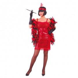 Disfraz de charleston rojo para adulto