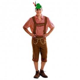 Disfraz de tiroles marron para adulto