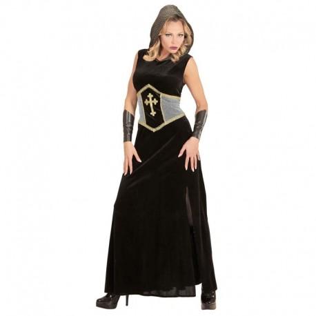 Disfraz de guerrera medieval largo para adulto