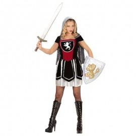 Disfraz de guerrera medieval corto para adulto