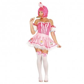 Disfraz de pastelito rosa