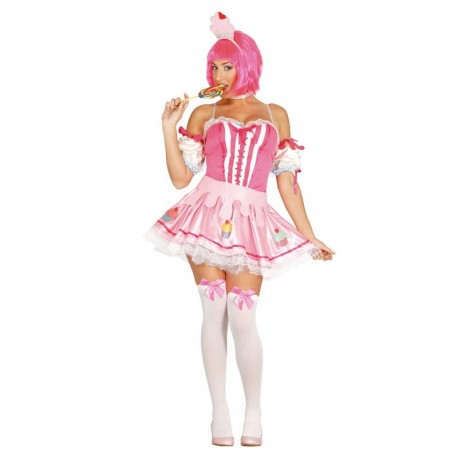 Disfraz de pastelito rosa para adulto