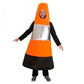 Disfraz de cono de trafico para adulto