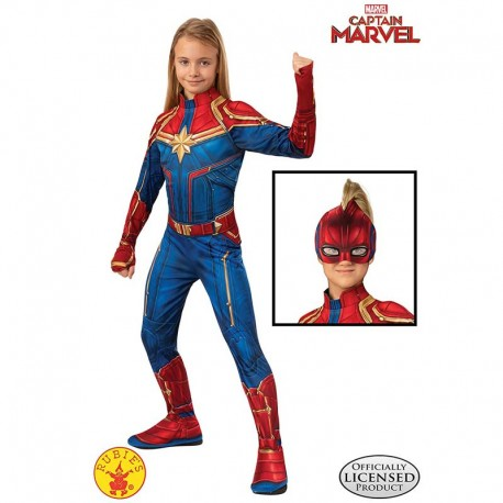 Disfraz de Capitana Marvel 8-10 años