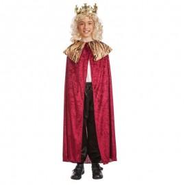 Capa de rey mago infantil roja