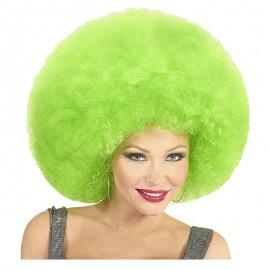 Peluca afro verde