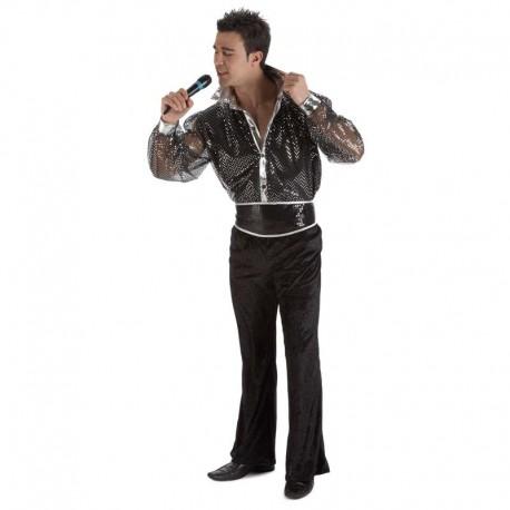 Disfraz de cantante lentejuelas para adulto