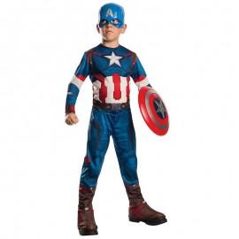 Disfraz de Capitan America de Lujo™ 4-6 años