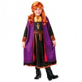 Disfraz de Anna Frozen II™ con peluca 7-8 años