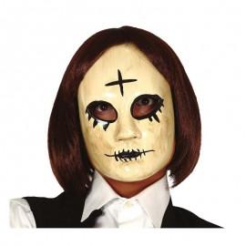Mascara mujer con cruz