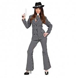Disfraz de gangster chica pantalon para adulto