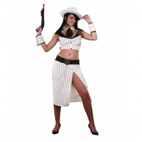 Disfraz de gangster chica top para adulto