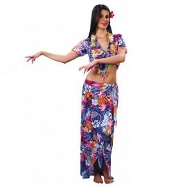 Disfraz de hawaiana de chica para adulto