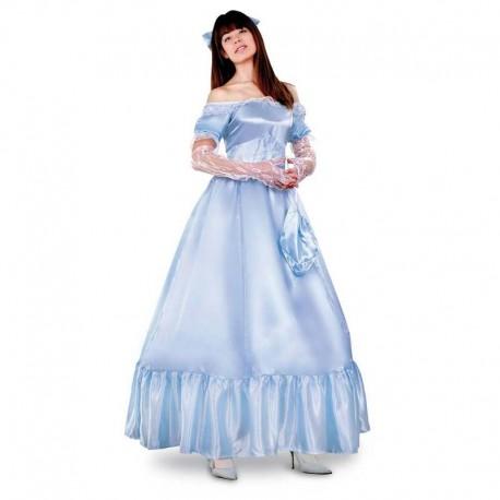 Disfraz de princesa azul para adulto