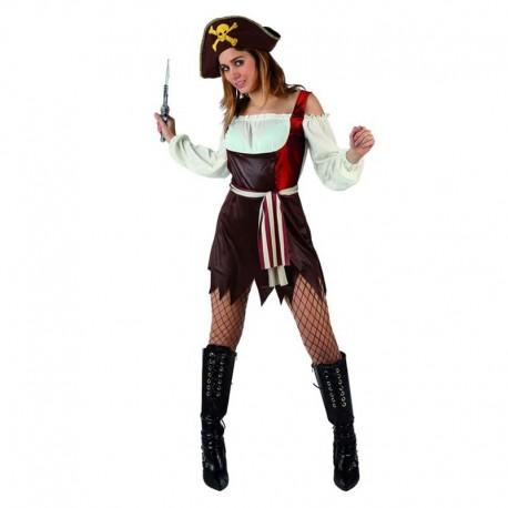 Disfraz de piratesa sexy marron
