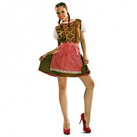 Disfraz de tirolesa marron para adulto
