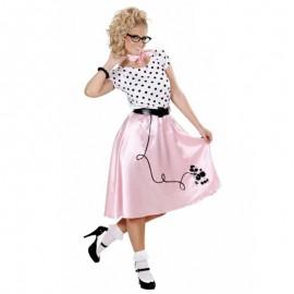 Vestido Pink Ladies años 50 para adulto