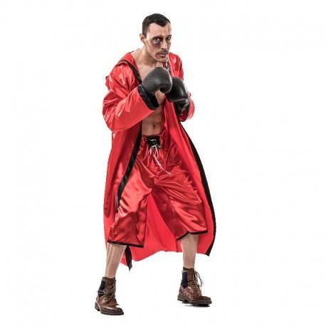 Disfraz de boxeador rojo para adulto