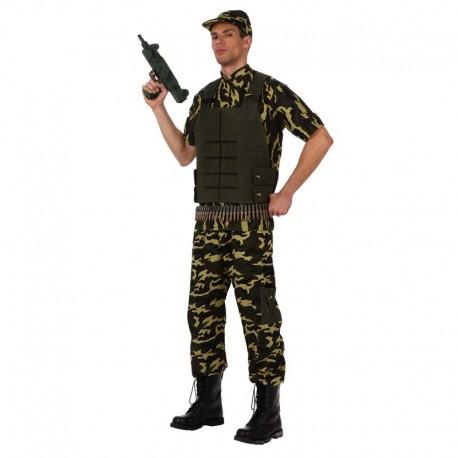 Disfraz de militar chaleco para adulto