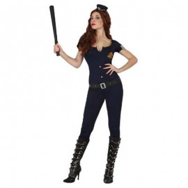 Disfraz de policia chica ajustado para adulto