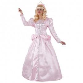 Disfraz de princesa de cuento rosa para adulto