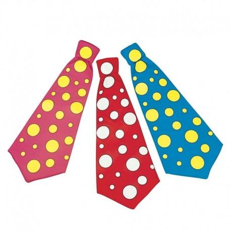 Corbata de payaso colorines