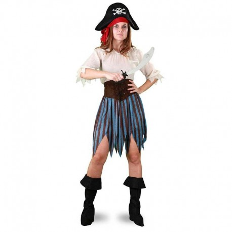 Disfraz de piratesa falda rayas