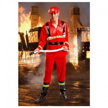 Disfraz de bombero para adulto