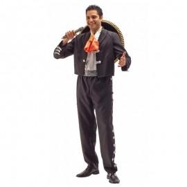 Disfraz de mariachi negro para adulto