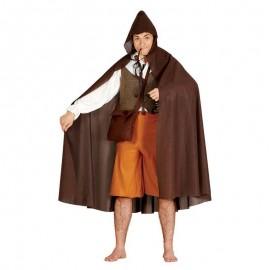 Capa marron con capucha