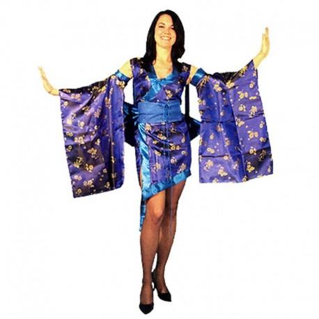 Disfraz de geisha sexy azul para adulto