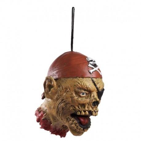 Cabeza cortada de pirata