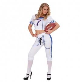 Disfraz de rugby chica para adulto