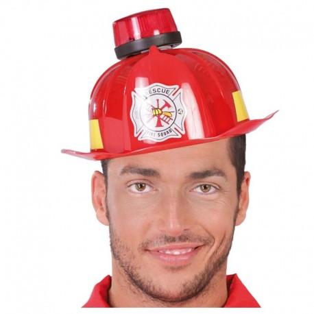 Casco de bombero con sirena