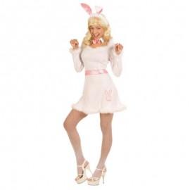 Disfraz de conejita Play Boy chica para adulto
