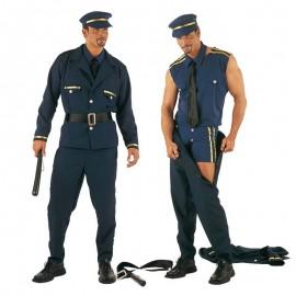Disfraz de policia striper para adulto