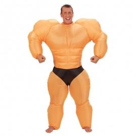 Disfraz de musculitos hinchable para adulto