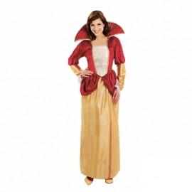 Disfraz de reina dorada para adulto