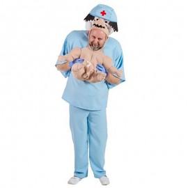 Disfraz de cirujano con bebe