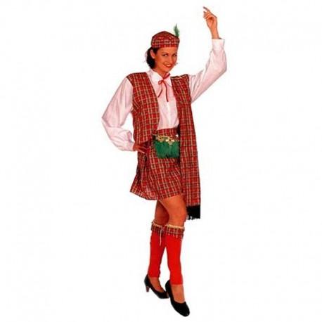 Disfraz de escocesa cuadros