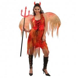 Disfraz de diablesa de fuego para adulto