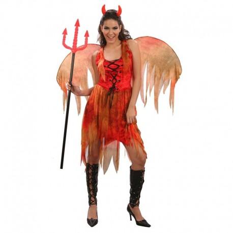 Disfraz de diablesa de fuego