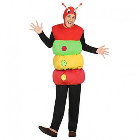 Disfraz de gusano multicolor