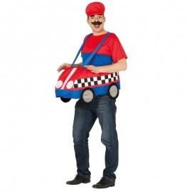 Disfraz de coche Mario Kart para adulto