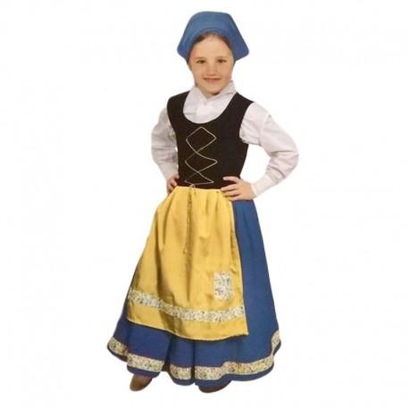 Disfraz de pastora azul 7-9 años