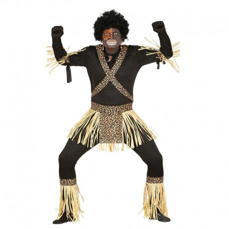 Disfraz de tribu zulu para adulto