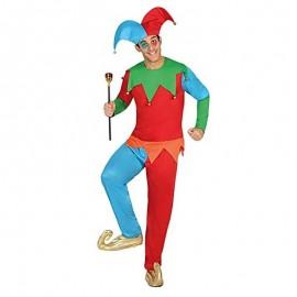 Disfraz de joker multicolor XL