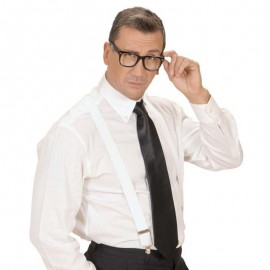 Corbata de raso negra