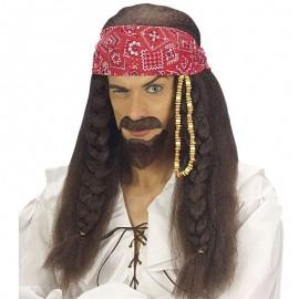 Peluca y perilla de Jack Sparrow