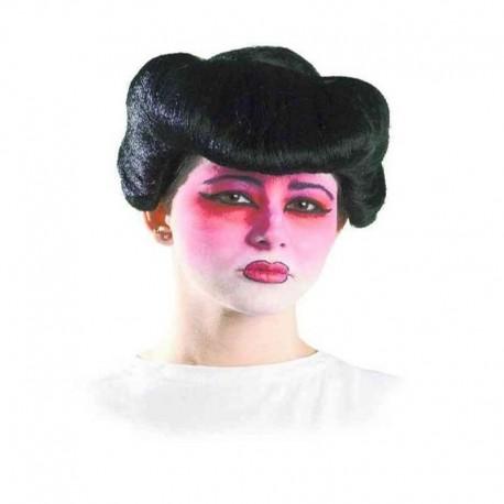 Peluca de geisha moderna